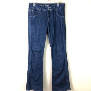 HUDSON Jeans Sz 29 Boot Mid Rise Soft Dark Wash